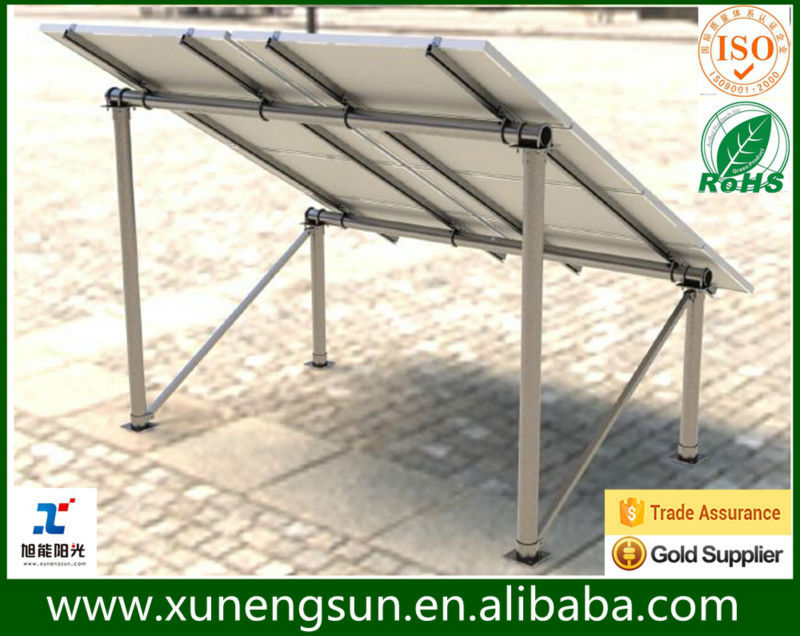 Steel Pv Mounting Structure Solar Panel Fix On Ground