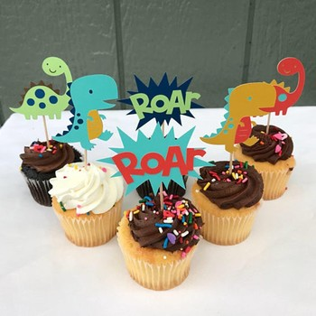 Dinosaur Cake Topper Cupcake Decorating Kit Eggs Birthday Decorations Party Supplies 3 Year Old Boy