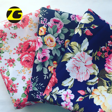 2018 Wholesale clothing smooth soft polyester sateen flower paper print fabric