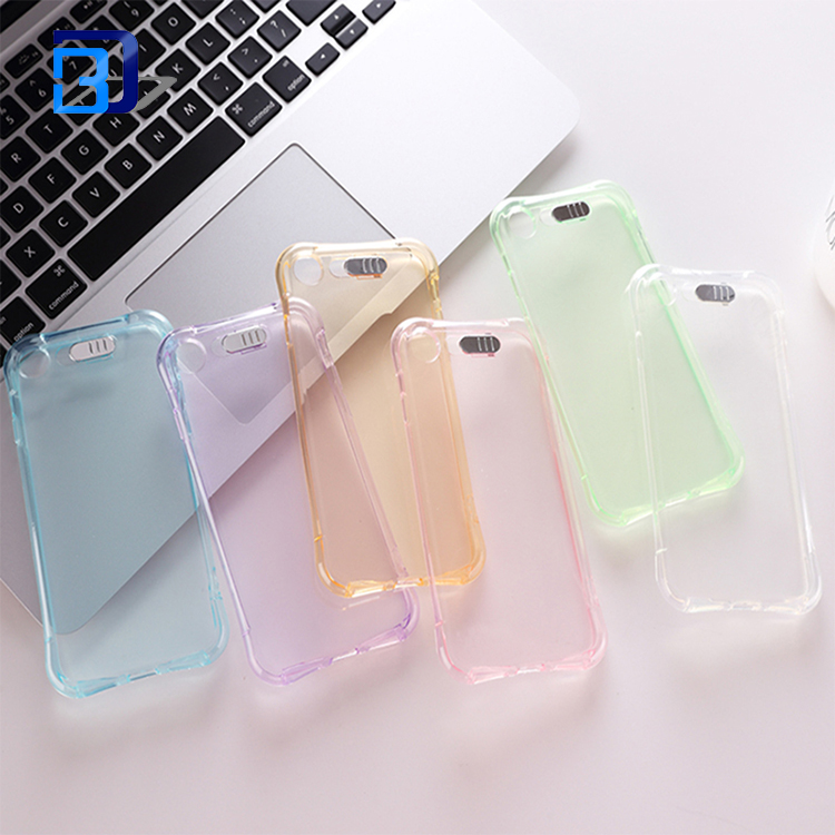 LED Flash Incoming Call Light up Crystal Clear Anti-scratch Shockproof Soft Protective Clear TPU Shell Case for iPhone 7 Case