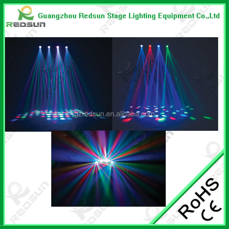 Lowest price!!!High quality super Foggy Effect LED Four Eyes for DJ War KTV BAR Laser Animation Stage Pointer Light