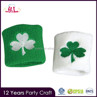 St. Patrick'S Day Irish Shamrock Sport Wrist Band Party Supply