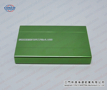 Extruded Aluminium box with anodizing and cover plates