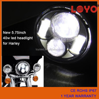 hot sale China Guangzhou 40w 5.75inch Car accessories led motorcycl headlight for Harley davidson