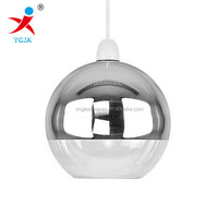 Modern Two Tone Chrome Effect & Clear Glass Globe lamp/ Ball Pendant Light Shade