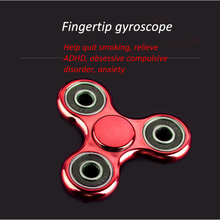 Stress Relief Metal Tri-Spinner Fidget Hand Spinner Toys for Killing Time