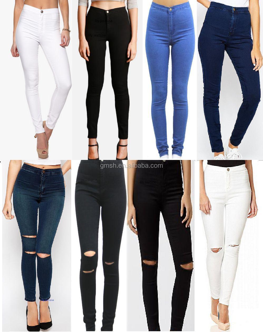 Mode Qualité Femmes Haute Dernière Jean Sexy 2017 Skinny Élégant Et 5n61AwyR