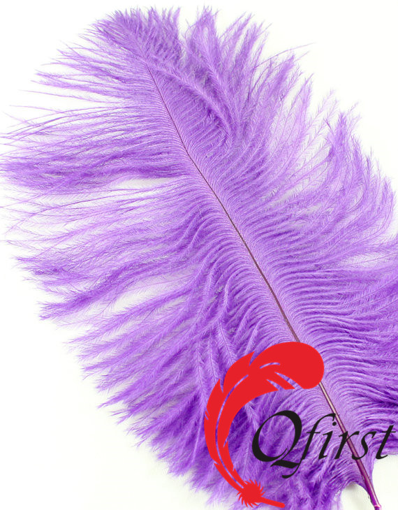 Purple Ostrich feathers for wedding decor for head piece and fascinators