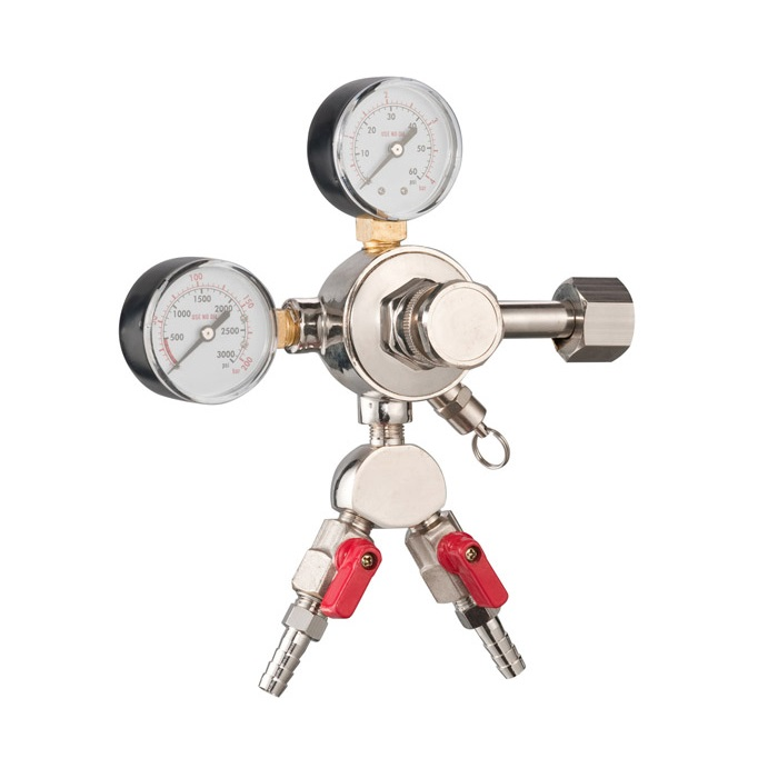 Two products CO2 gas keg beer regulators
