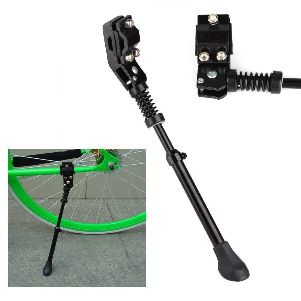 "KORADA Mountain Bike Kickstand-Aluminum Alloy Single Leg Rear Mount Non Slip Quick Adjustable Height Bicycle Kick Stand, Fits Most 24"" 26"" Bicycle/Road Bike/BMX/MTB, Black"