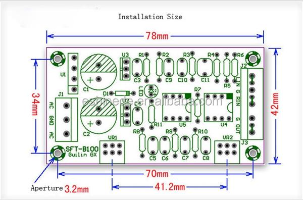 22hz-210hz Hi-fi Low Pass Filter Pre-amplifier Preamp Board Module  Subwoofer - Buy Amplifier Board,Amplifier Module,Low Pass Filter Product on