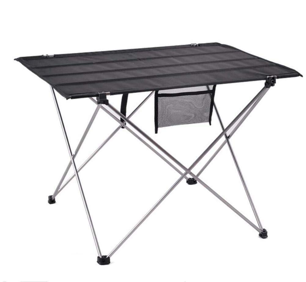 Onfly Outdoor Folding Tables,Portable Collapsible Camping Picnic Desk,Ultralight Folding Backpacking/Carrying Bag,for Hiking Walking Fishing Travel Hunting Sports Party Beach (Color : Silver)