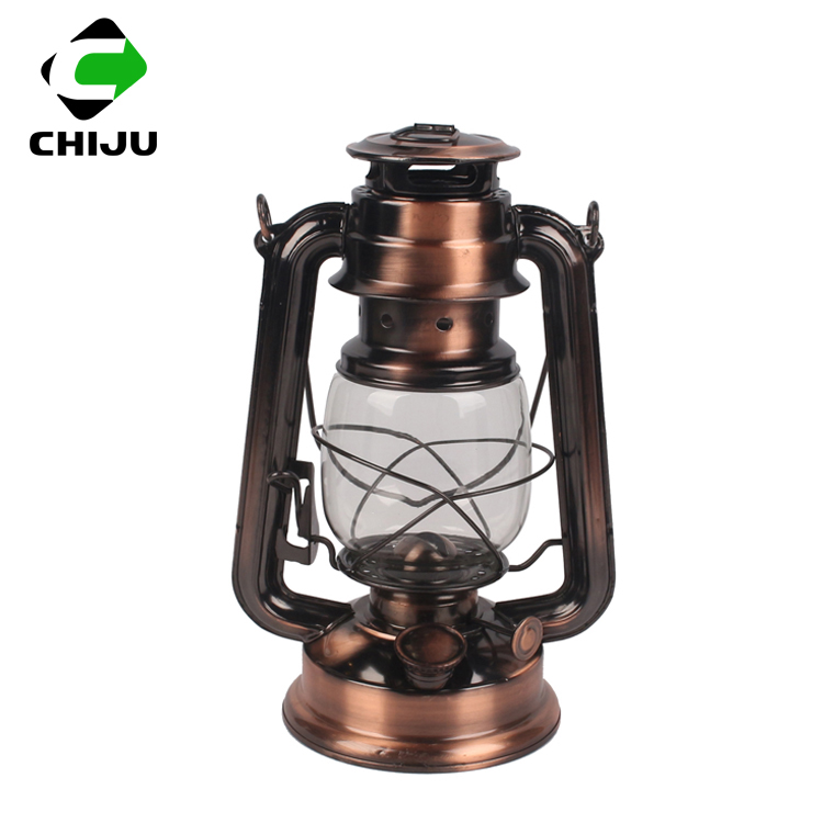 High quality windproof portable antique decorative kerosene oil lantern hurricane lantern with metal handle
