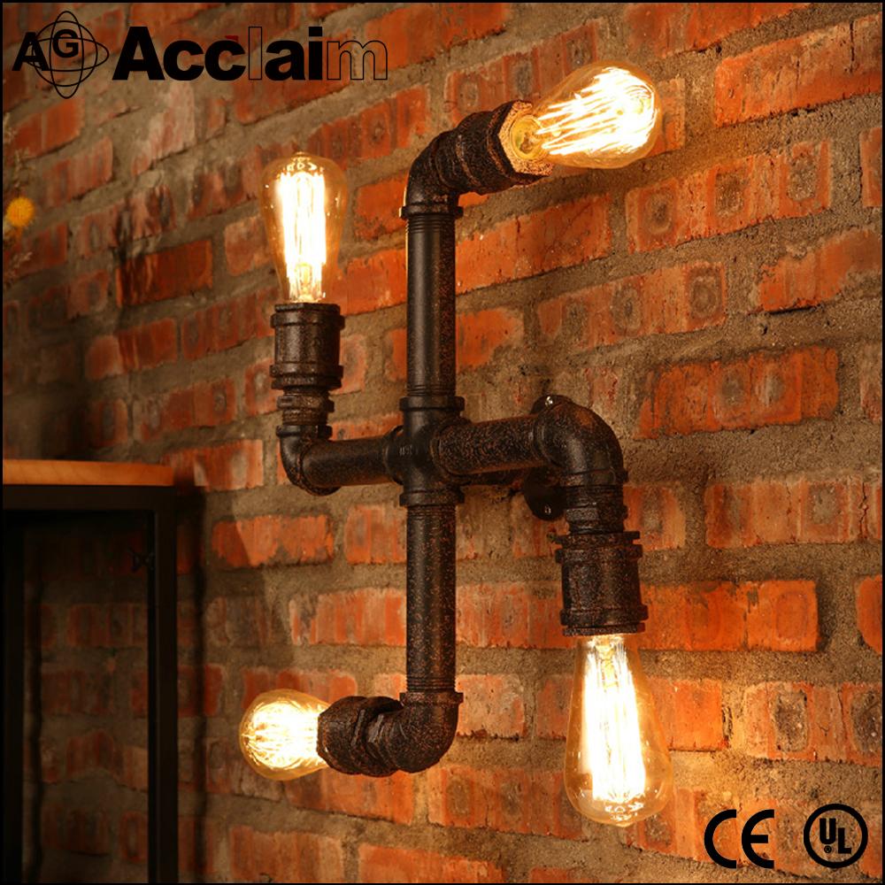 Amerikaanse vintage ontwerp industriële licht interieur muur led ...
