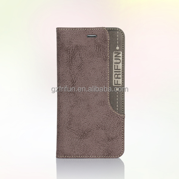 Newest folio style mobile phone housing for apple brand leather case