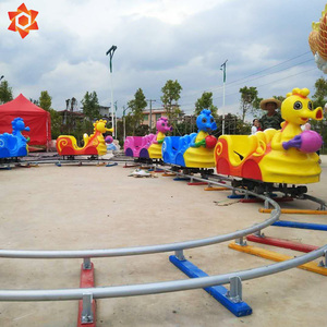 Used amusement park rides outdoor electric happy farm family fun fair adults electric trains rides