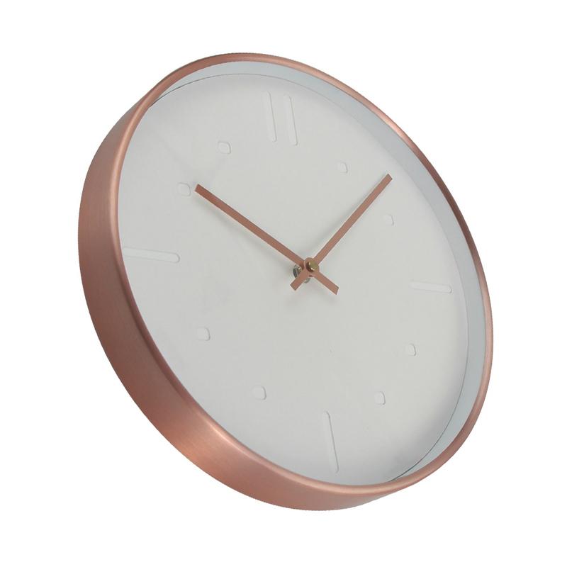 Color Cobre De Cuarzo Relojes De Diseño Moderno De Metal Reloj De Pared  Cocina Decoración Del Hogar - Buy Reloj De Pared De Metal,Reloj De Pared De  ...