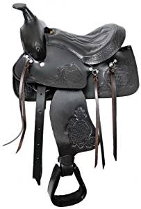 """12"""" Pony Youth Saddle Western Semi Qh, Black or Brown Leather, NEW"""