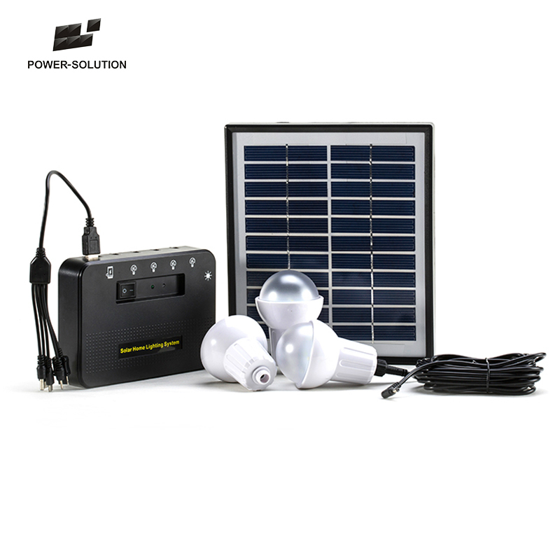 The Most Popular High Quality And Lowest Price 4W Solar <strong>Energy</strong> Product 3 Bulbs Solar System Power For No Electricity Areas Home