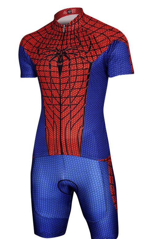 Get Quotations · Spider-Man Black Spiderman Captain America Batman Superman  Set Costume Cycling ecd69be99