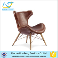 Replica designer furniture antique style leisure leather chiar wholesale furniture Foshan