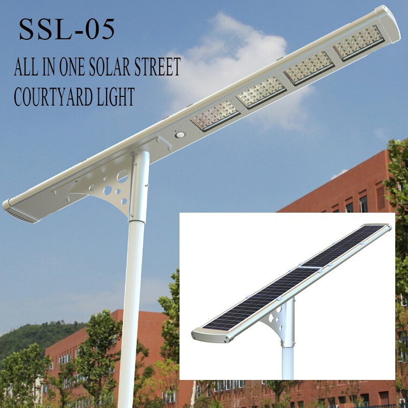 4000 Lumens Outdoor No Wire All In One Solar Street Led Light With ...