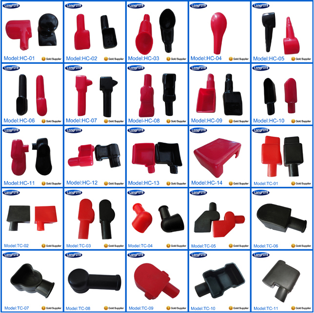 auto electrical wire harness connectors, pvc plastic rubber battery  terminal cover