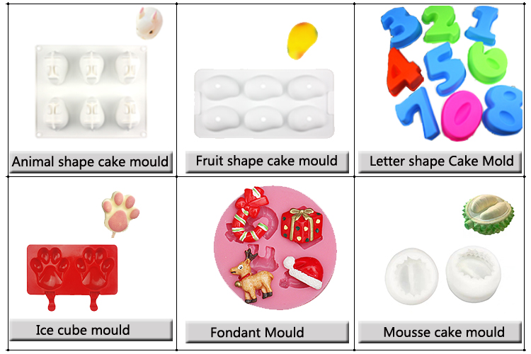 Custom 3d silicone fondant mold Silicone Cake Decoration mould