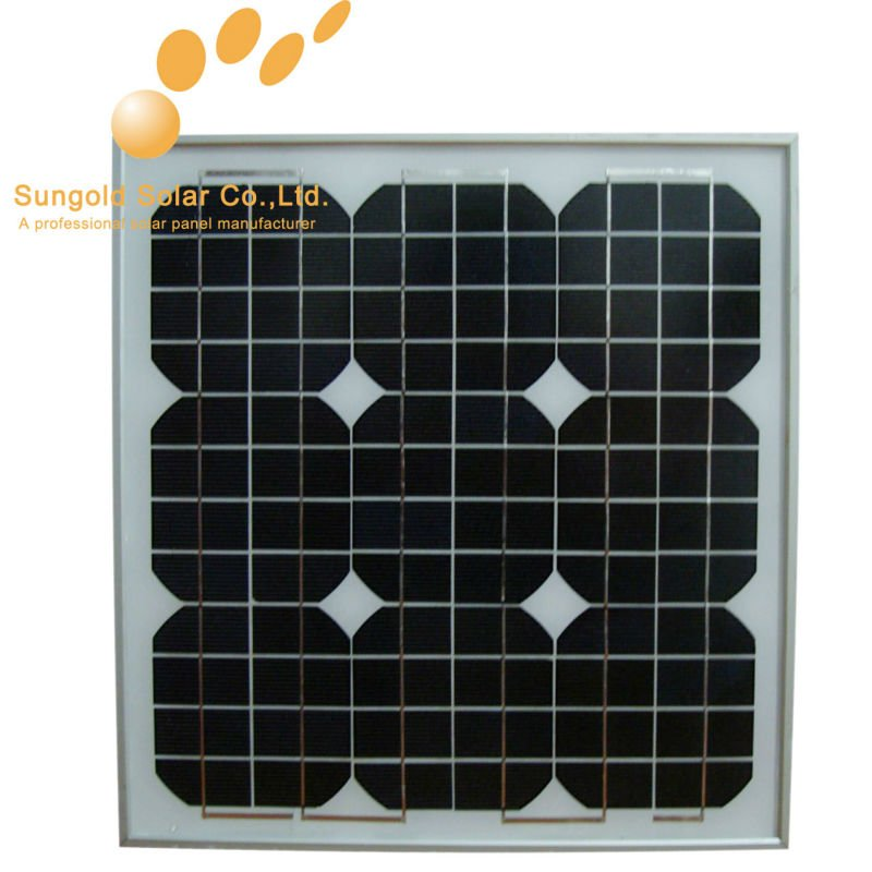 25w18v mono solar panels kit for 12v LED light
