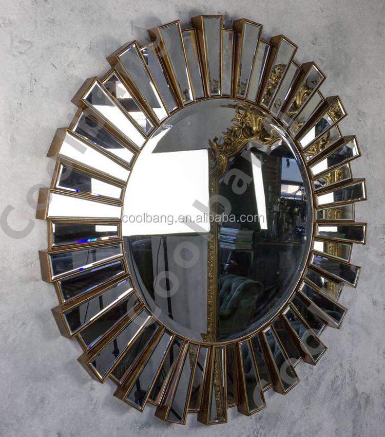 Venta al por mayor enmarcar espejo redondo-Compre online los mejores ...