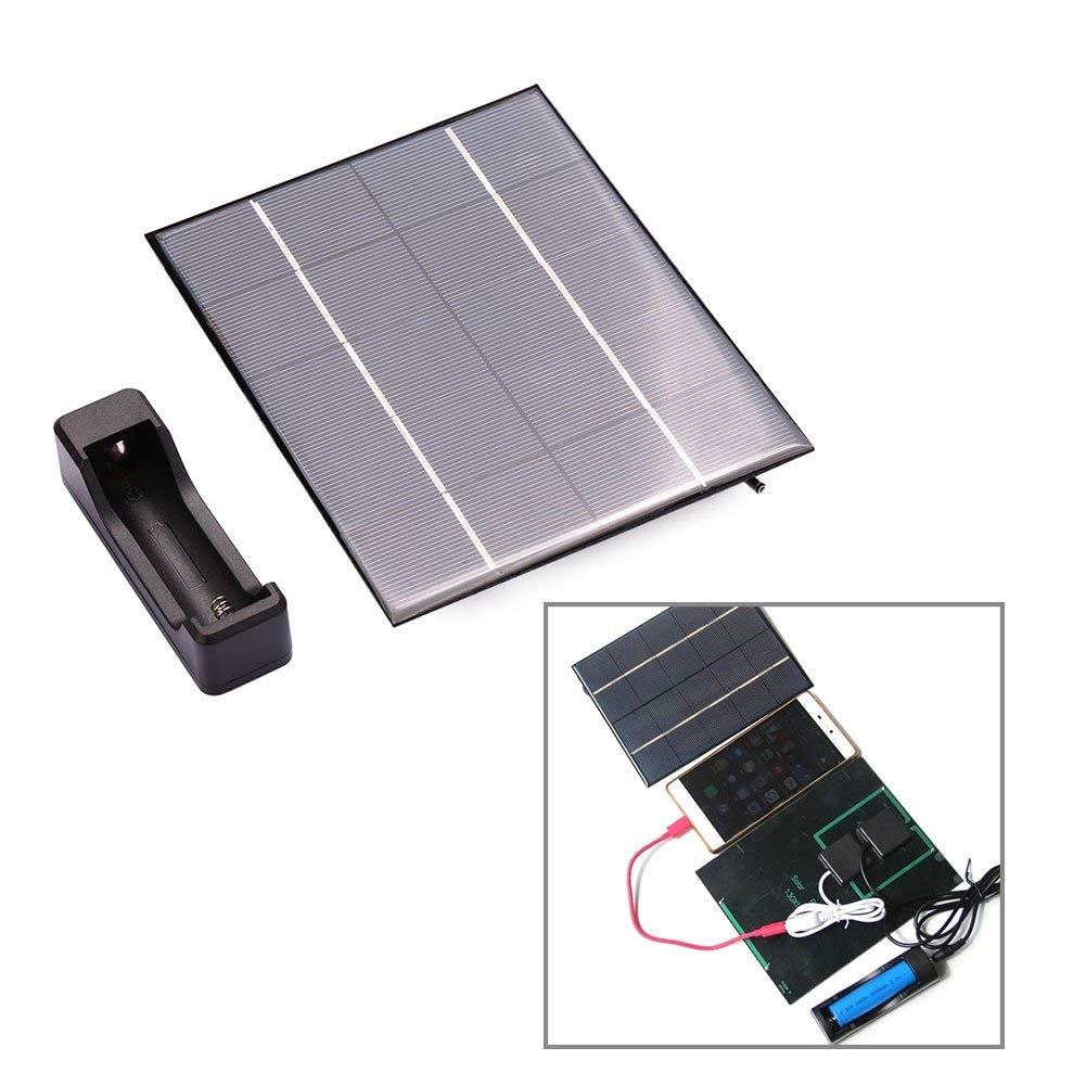 hongfei 3.5W Solar Cell Phone 18650 Charger Mobile Recharge Energy Power Panels