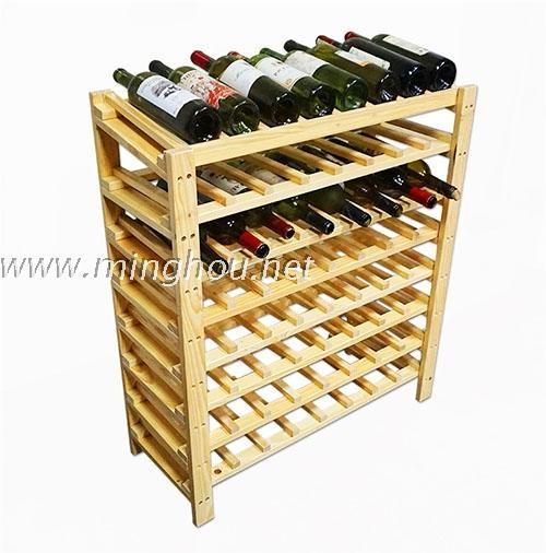 Sesuaikan 64 Botol 108 Diy Kreatif Lemari Kayu Anggur Rak Dengan Dapur Cangkir Gantungan