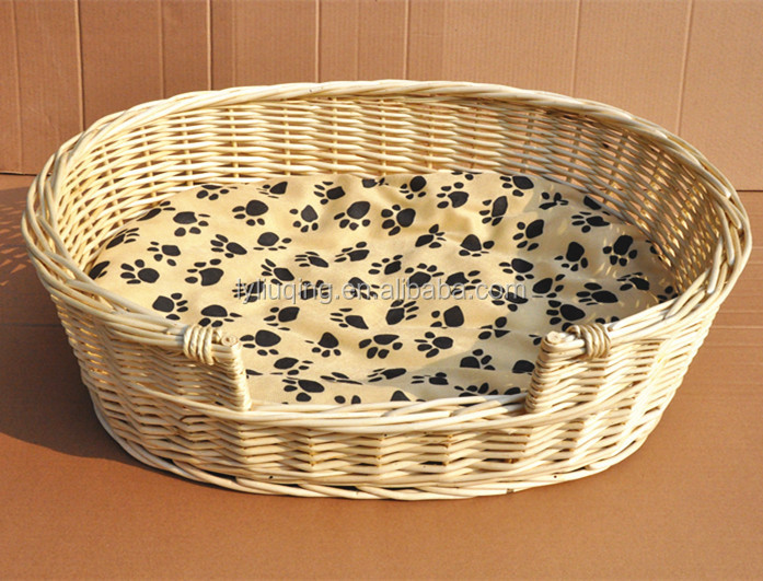 factory wholesale natural handmade willow/wicker weaving Pet/dog bed