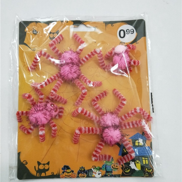 Halloween spider sticker ornamento