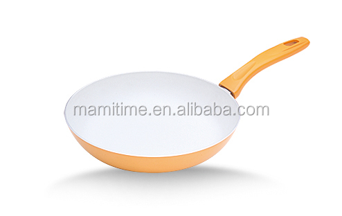Decorated hot sale aluminum induction cooker ceramic fry pan