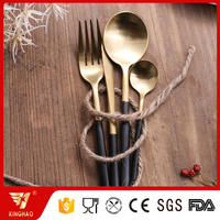 Luxury Black Gold Plated Stainless Steel Cutlery Set
