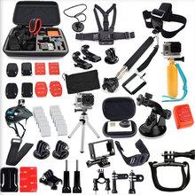 Gopro Accessories Set Helmet Harness Chest Belt Head Mount Strap Monopod Go pro hero3 Hero 4 session 3+ xiaomi yi SJ4000 SJ7000