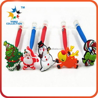 Cute design rubber fridge finger pen