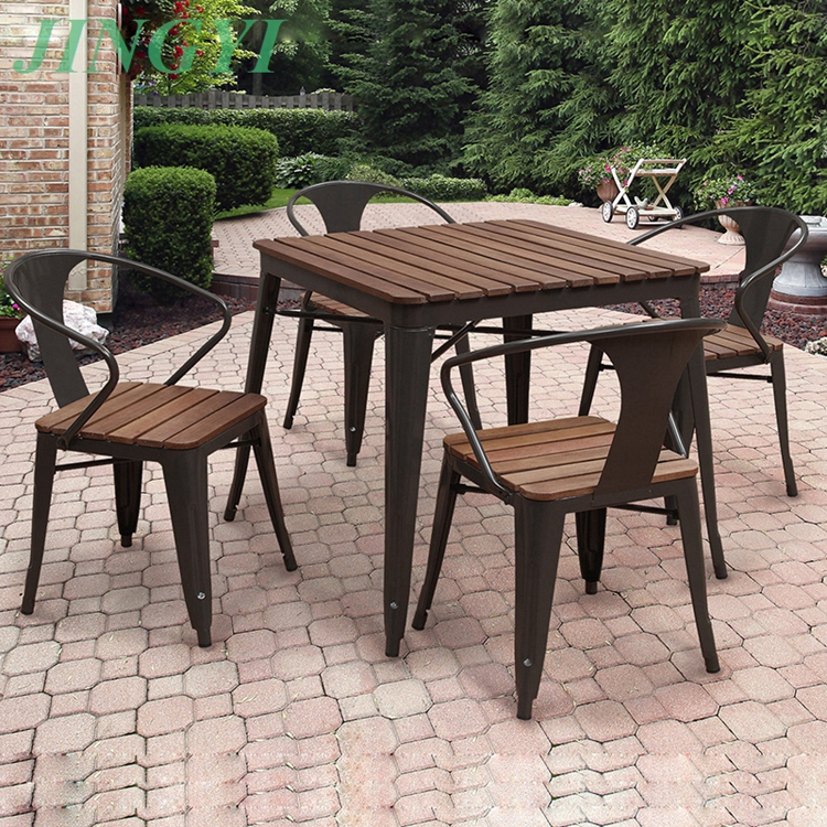 outdoor starbucks furniture 4+1 garden table and chairs B123