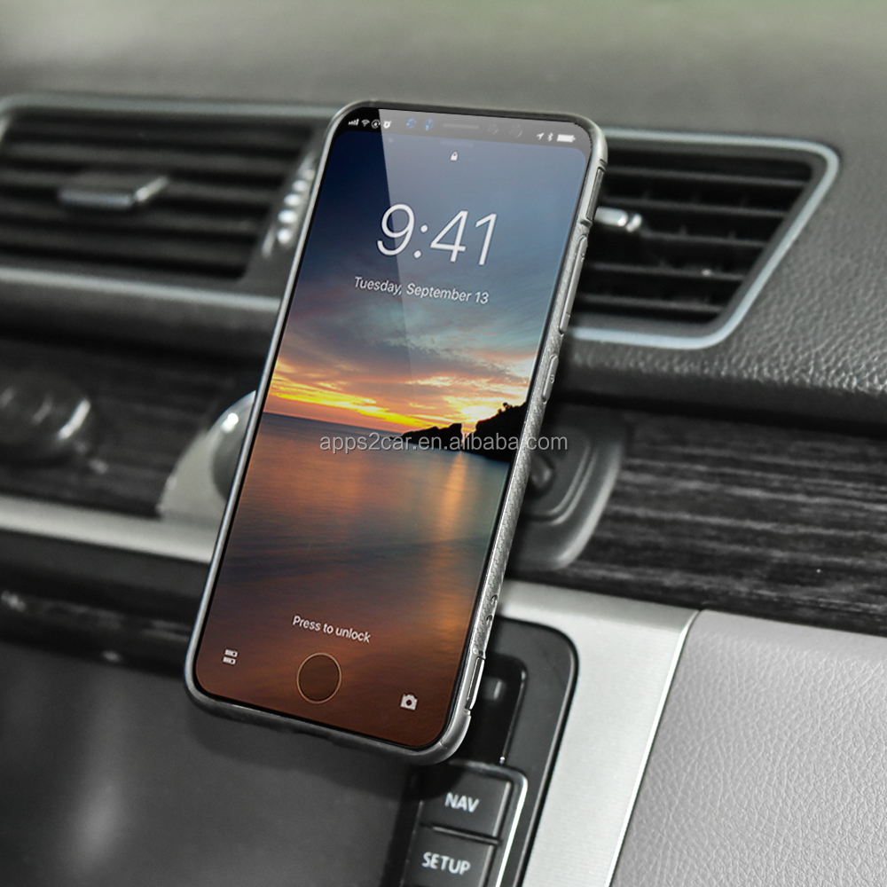Hot sale walmart custom logo magnetic car cell phone holder  for iphone 6/7/8/X
