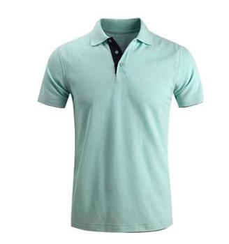 mint green polo shirt