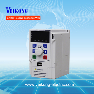 VEIKONG 1 phase 220V 0.4KW variable frequency inverter excellent stability vfd simple ac drive