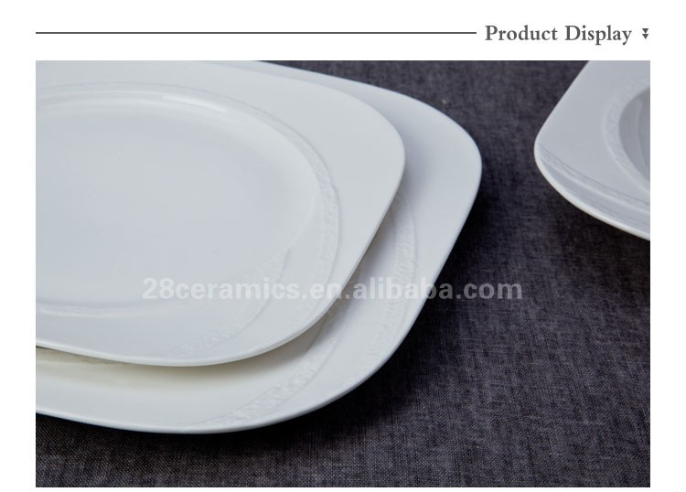 Wholesale catering dinner plates white, turkish dinner set