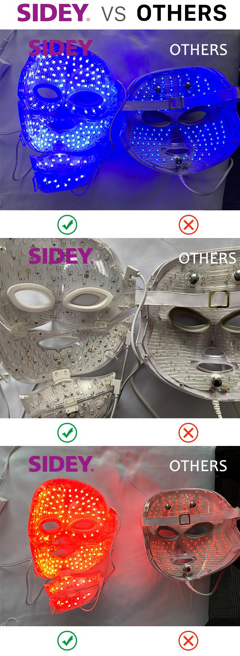 SIDEY Nouvelle Arrivée Prix de Gros Maison Portatif De Soin de Rajeunissement De La Peau PDT LED Blanchissant Masque Facial