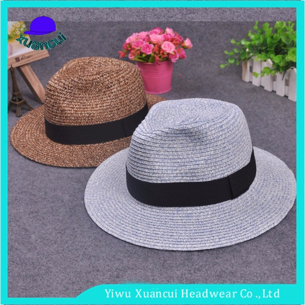 Manufacture summer panama hat paper straw cheap mens south africa straw hat  wholesale 438a3b4846d