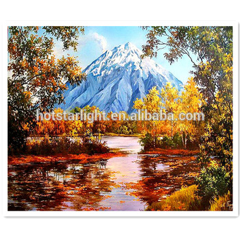 Snow Mountain Beautiful Natural Scenery Diamond Painting Buy