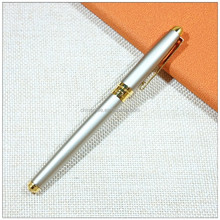 Chinese quality silver metal fountain pen calligraphy pen with gold clip