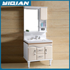 Alloy Handle Large Storage Cabinets with Mirror PVC Bathroom Vanities