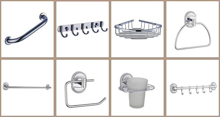 Bathroom Accessories Fittings wall mounted zinc alloy bathroom accessories fittings in hardware