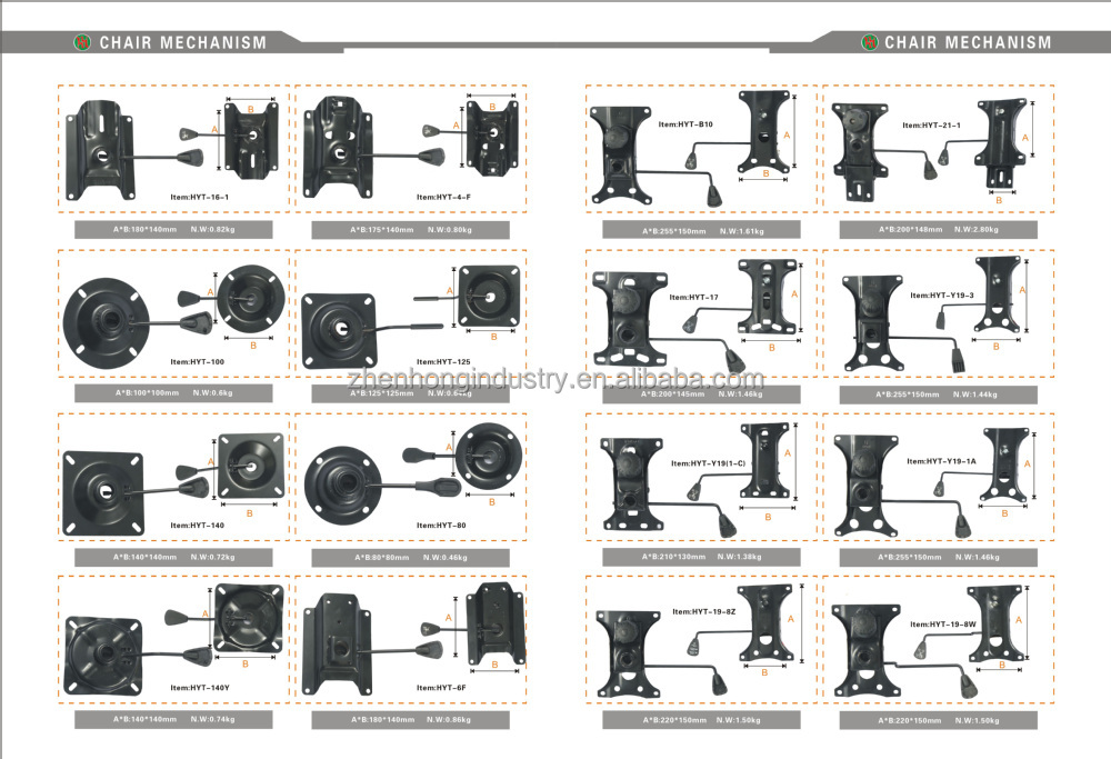 bw china supplier cheap price office chair ponents and replacement office chair seat plate heavy duty